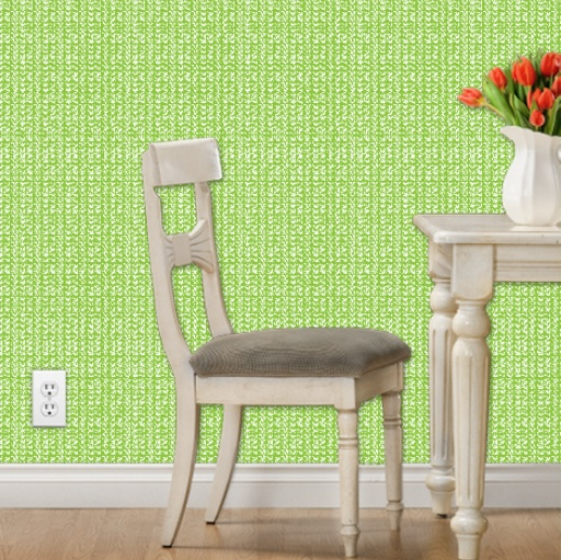 Lime Reverse Wallpaper Preview Spoonflower